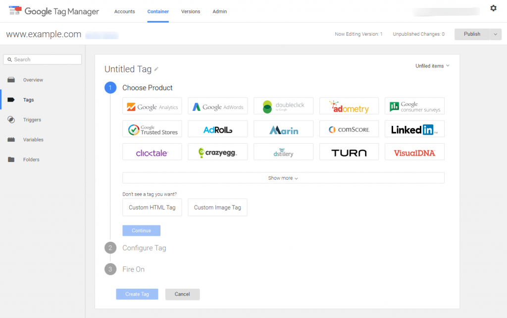 Google Tag Manager-new-tag