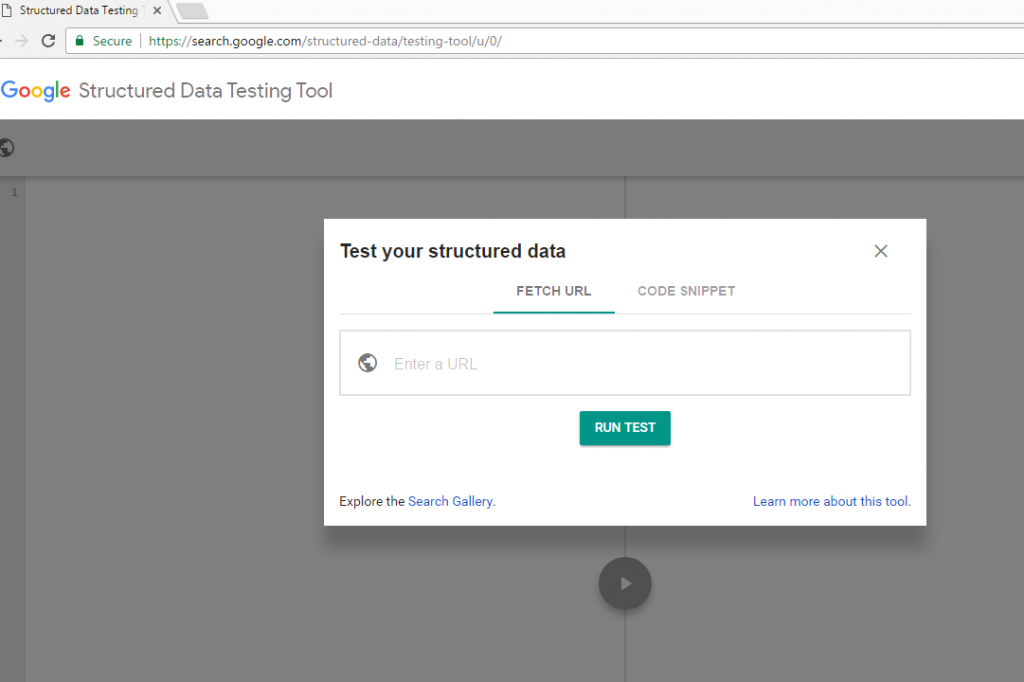 structured data test tool